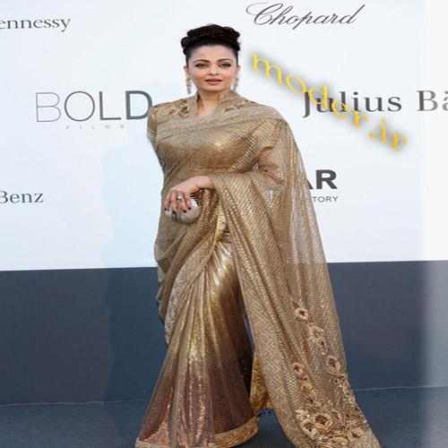 مدل لباس مجلسی و ساری هنرپیشه هندی