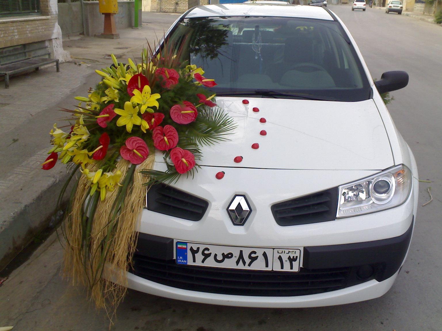 مدل ماشین عروس زیبای مگان سفید