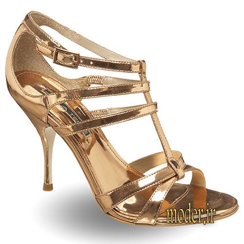 مدل کفش مجلسی طلایی زیبا
